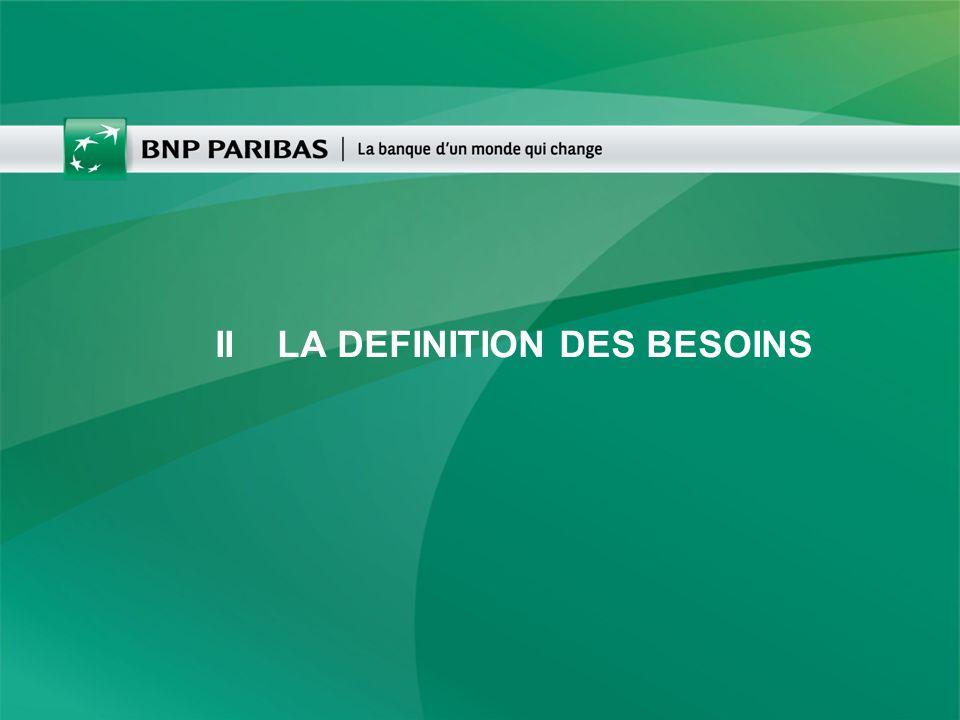 II LA DEFINITION DES BESOINS
