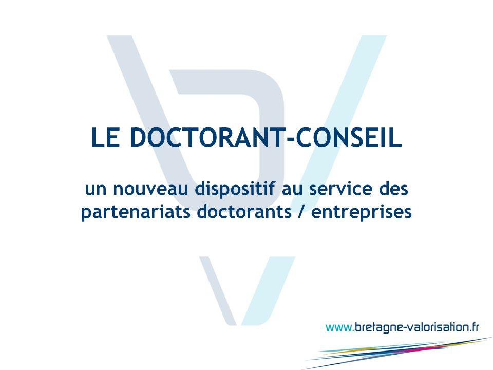 LE DOCTORANT-CONSEIL un nouveau dispositif au service des partenariats doctorants / entreprises