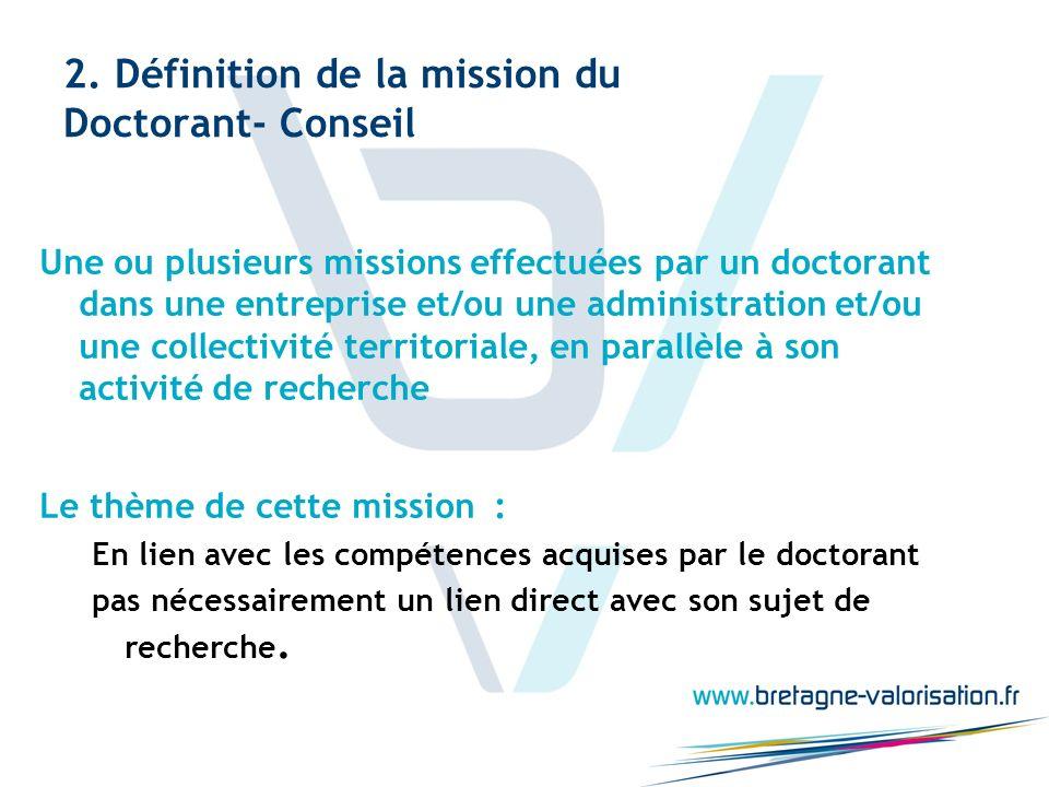 2. Définition de la mission du Doctorant- Conseil