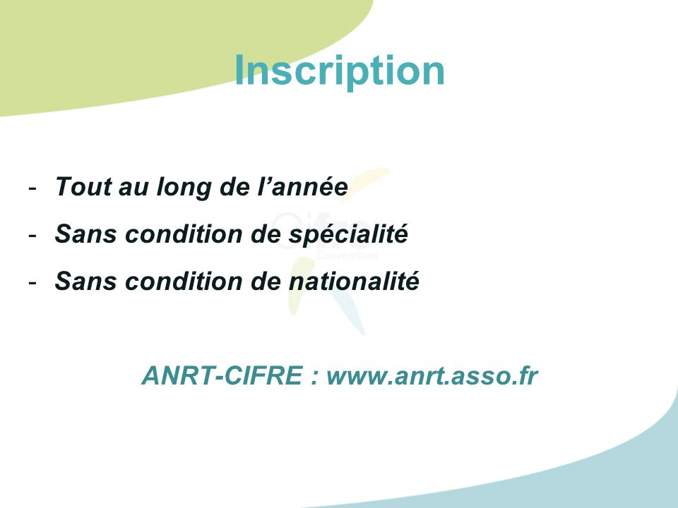 ANRT-CIFRE :