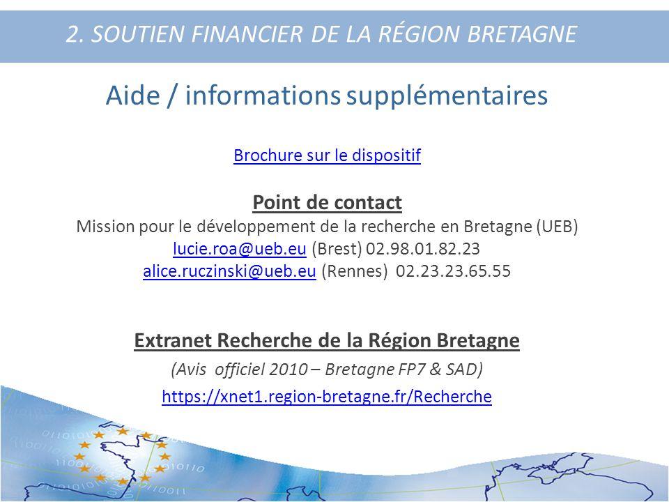 2. SOUTIEN FINANCIER DE LA RÉGION BRETAGNE