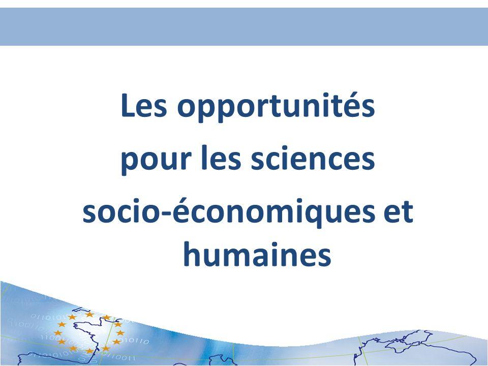 Les opportunités pour les sciences socio-économiques et humaines