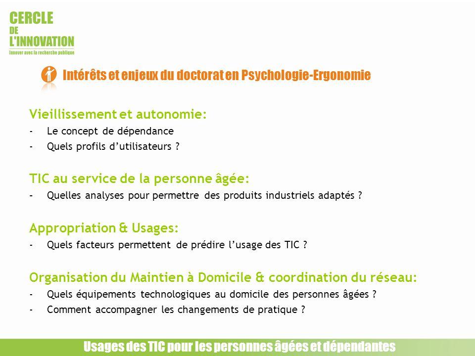 Intérêts et enjeux du doctorat en Psychologie-Ergonomie
