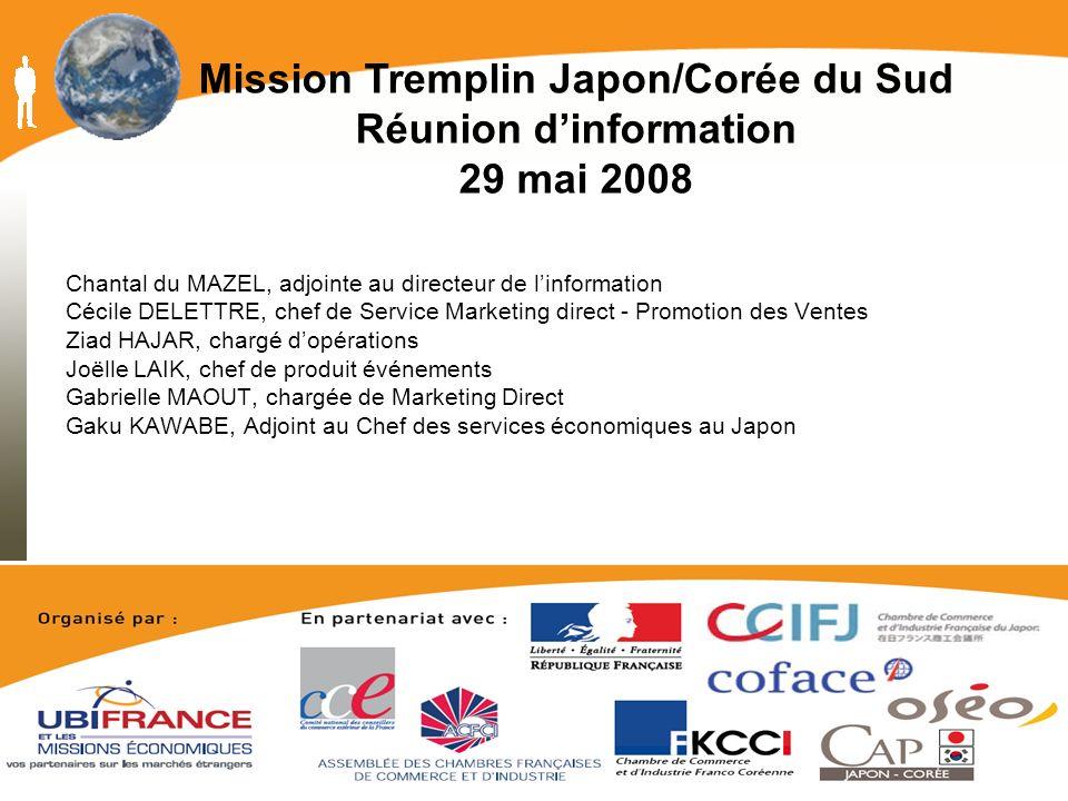Mission Tremplin Japon/Corée du Sud Réunion d'information 29 mai 2008