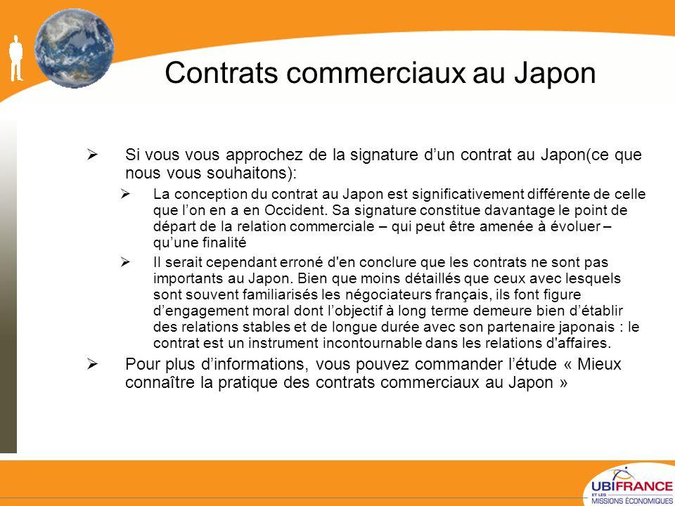 Contrats commerciaux au Japon