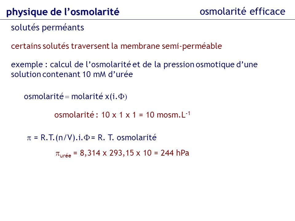 osmolarité = molarité x(i.F)