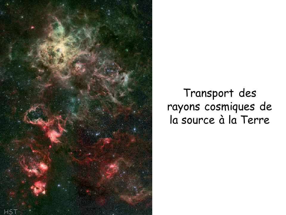 Transport des rayons cosmiques de la source à la Terre