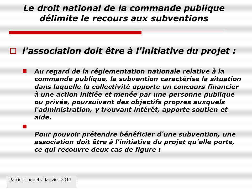 l association doit être à l initiative du projet :