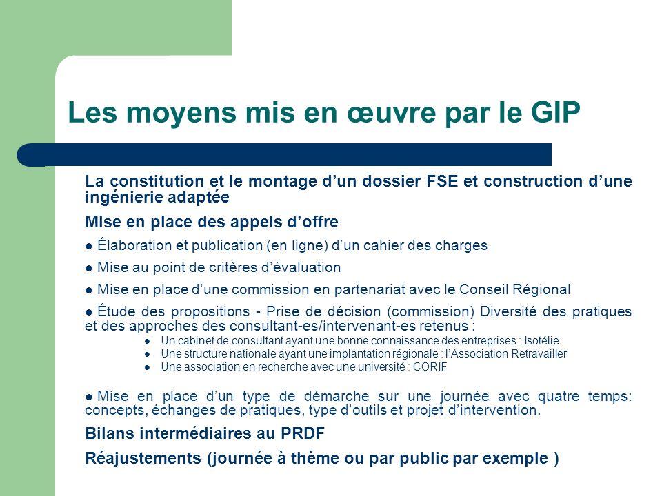 Les moyens mis en œuvre par le GIP