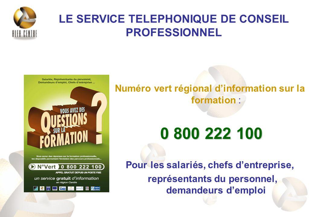 LE SERVICE TELEPHONIQUE DE CONSEIL PROFESSIONNEL