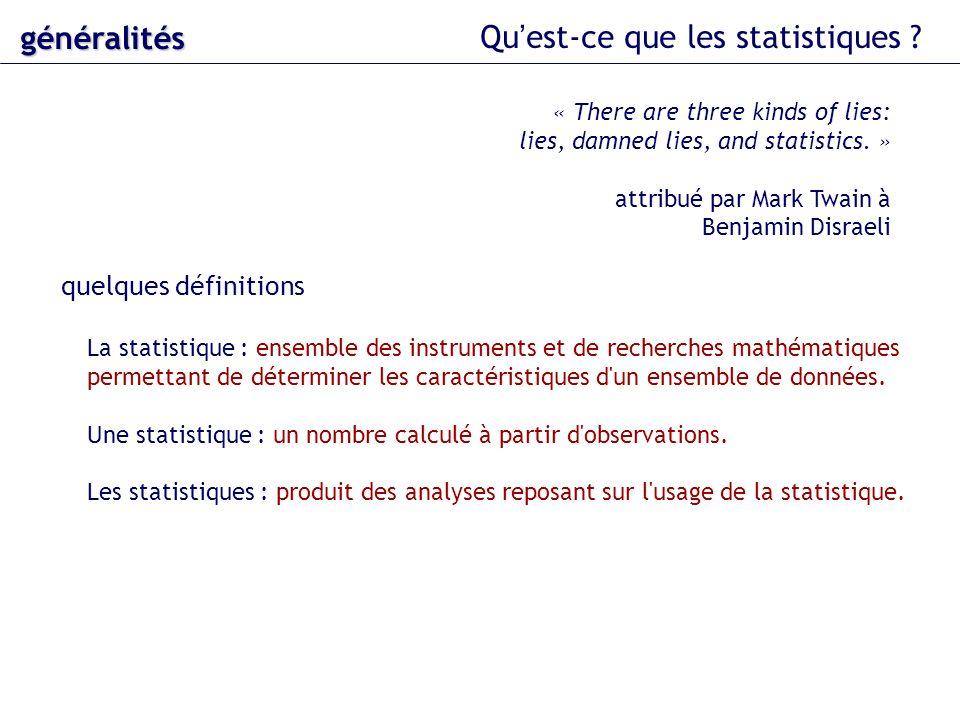 Qu'est-ce que les statistiques