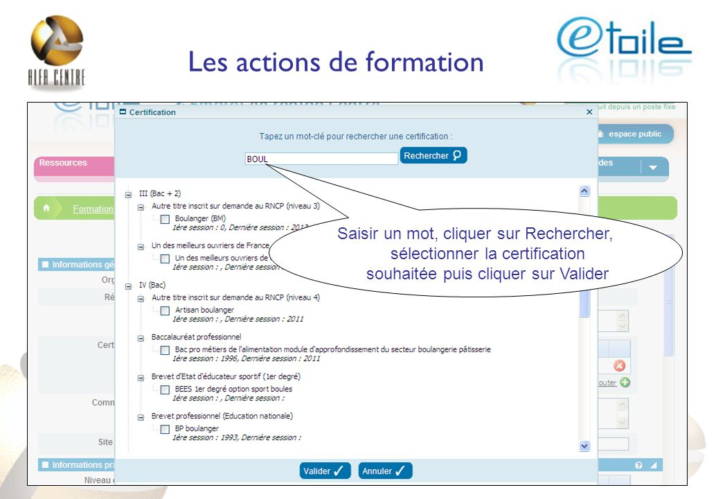 Les actions de formation