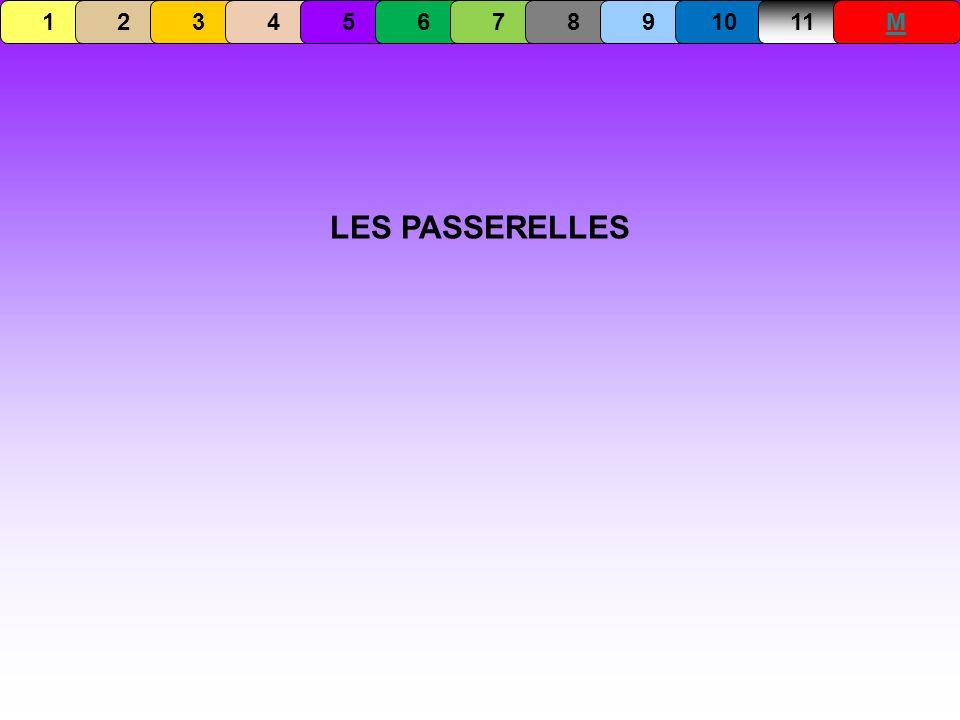 1 2 3 4 5 6 7 8 9 10 11 M LES PASSERELLES