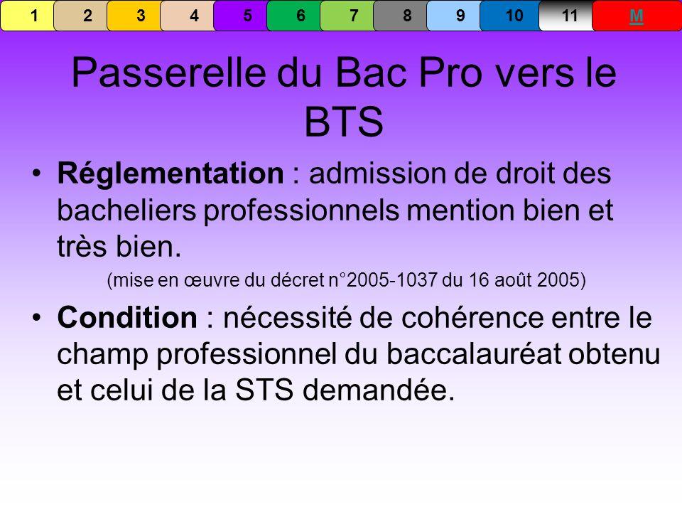 Passerelle du Bac Pro vers le BTS