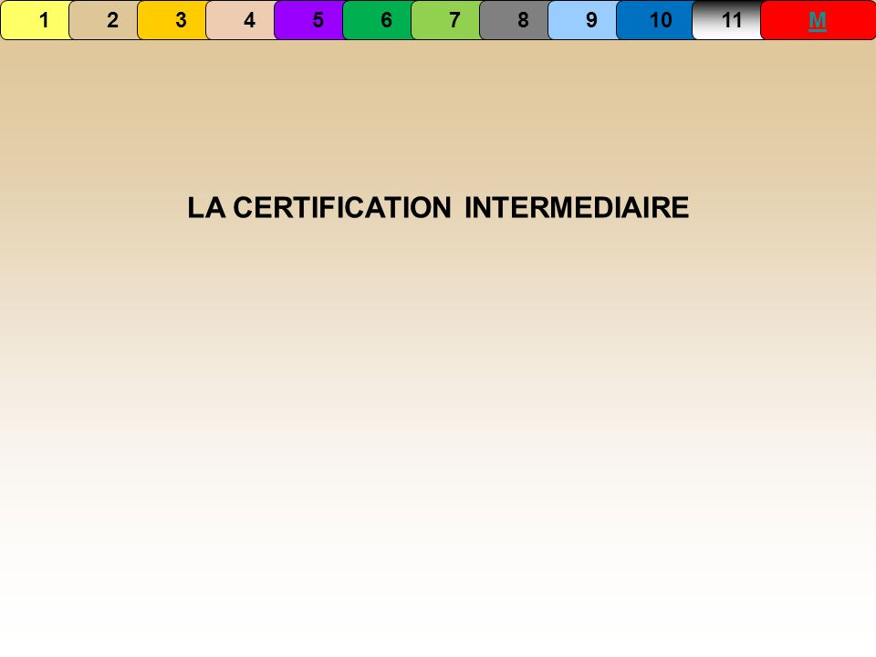 LA CERTIFICATION INTERMEDIAIRE