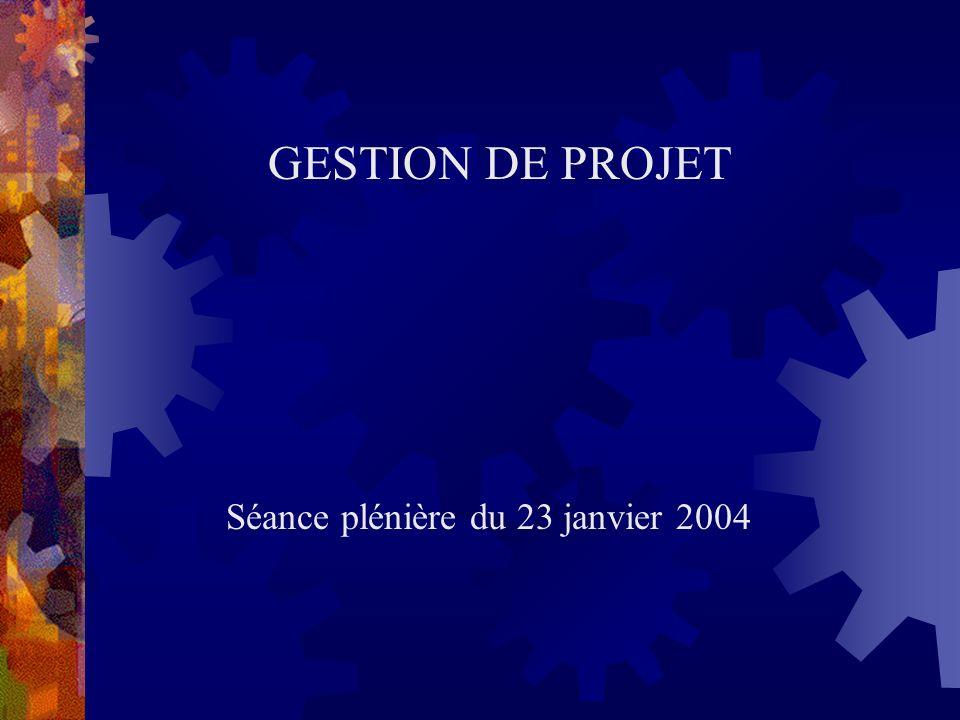 Séance plénière du 23 janvier 2004