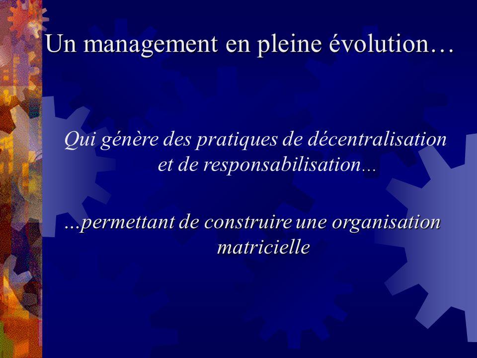 Un management en pleine évolution…