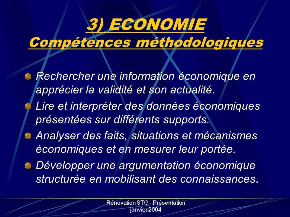 3) ECONOMIE Compétences méthodologiques