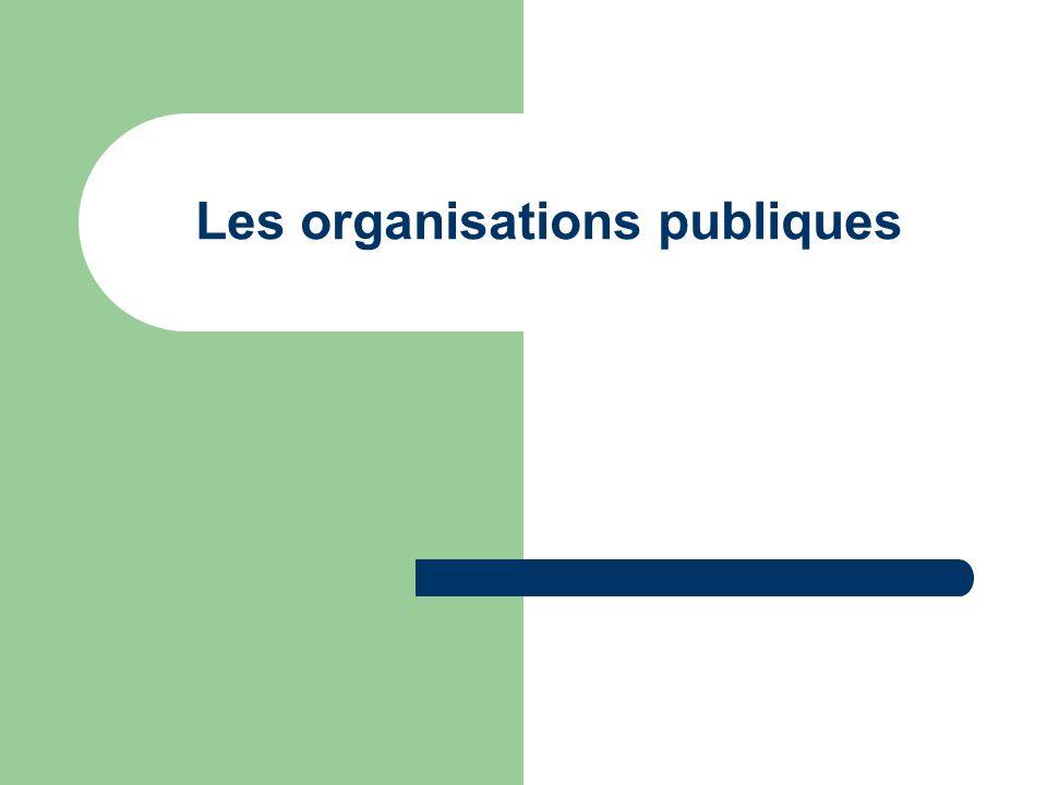 Les organisations publiques