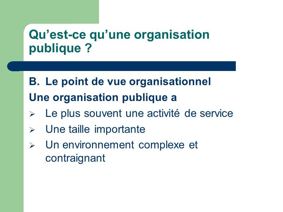 Qu'est-ce qu'une organisation publique