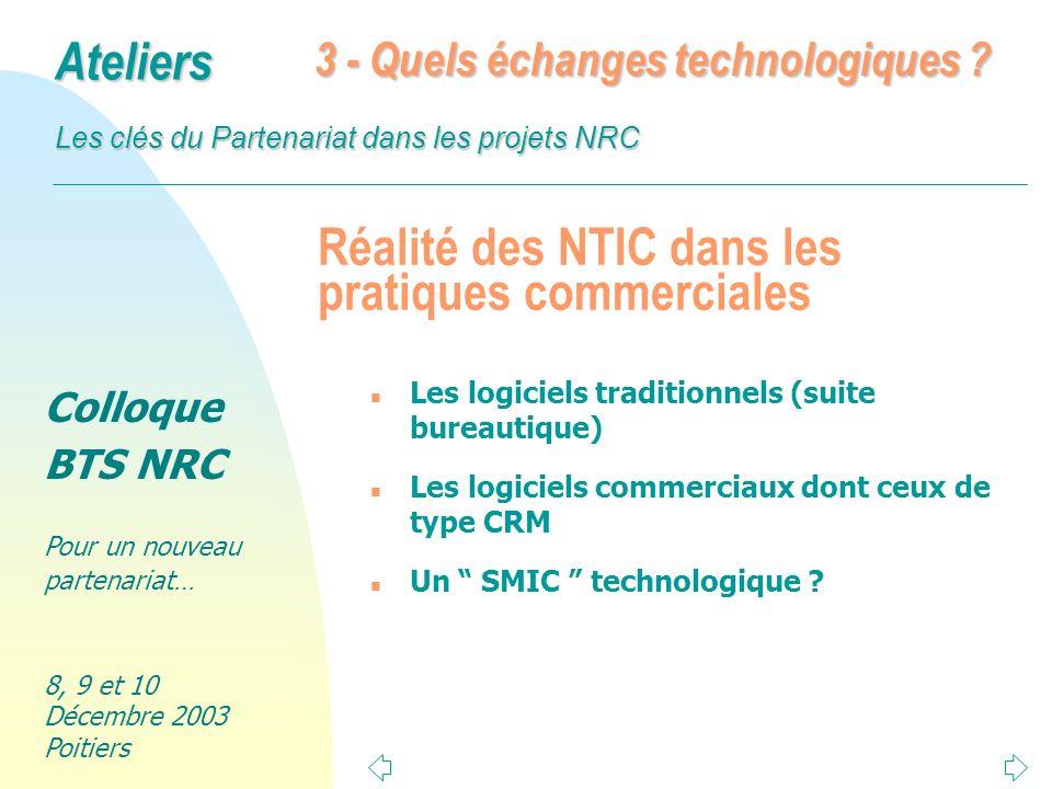Réalité des NTIC dans les pratiques commerciales