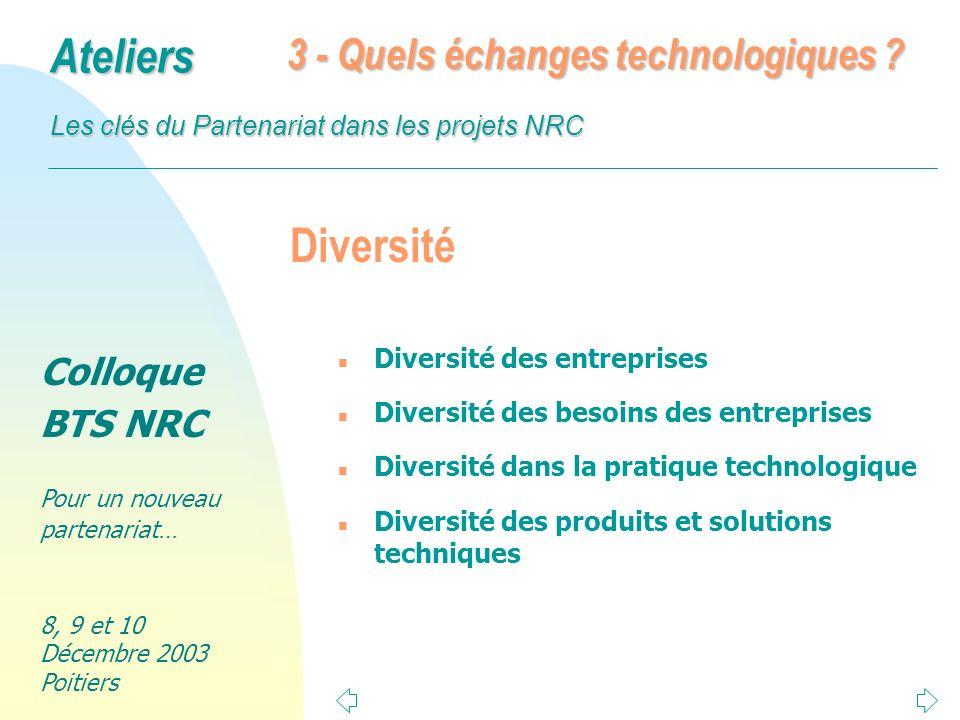 Diversité 3 - Quels échanges technologiques