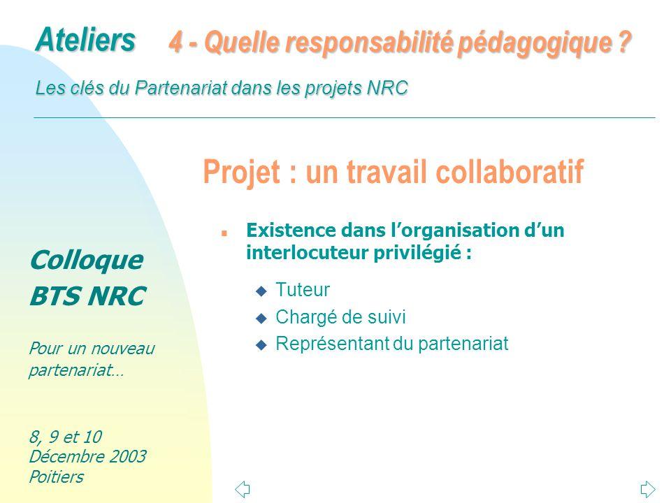 Projet : un travail collaboratif