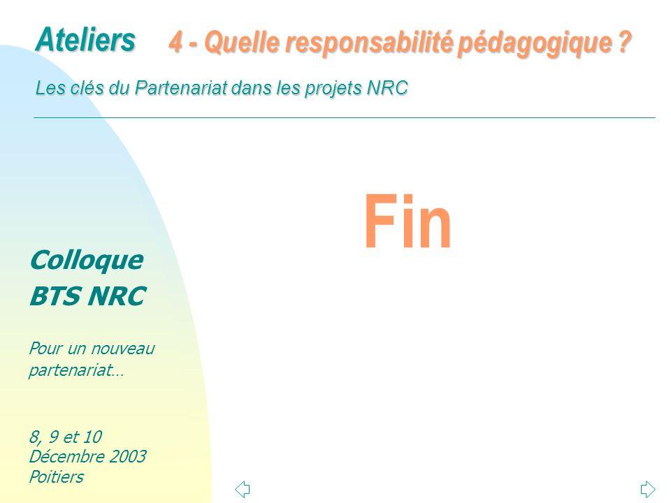 4 - Quelle responsabilité pédagogique