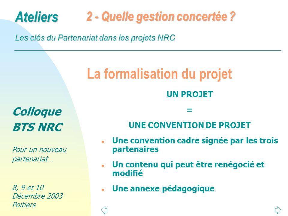 La formalisation du projet