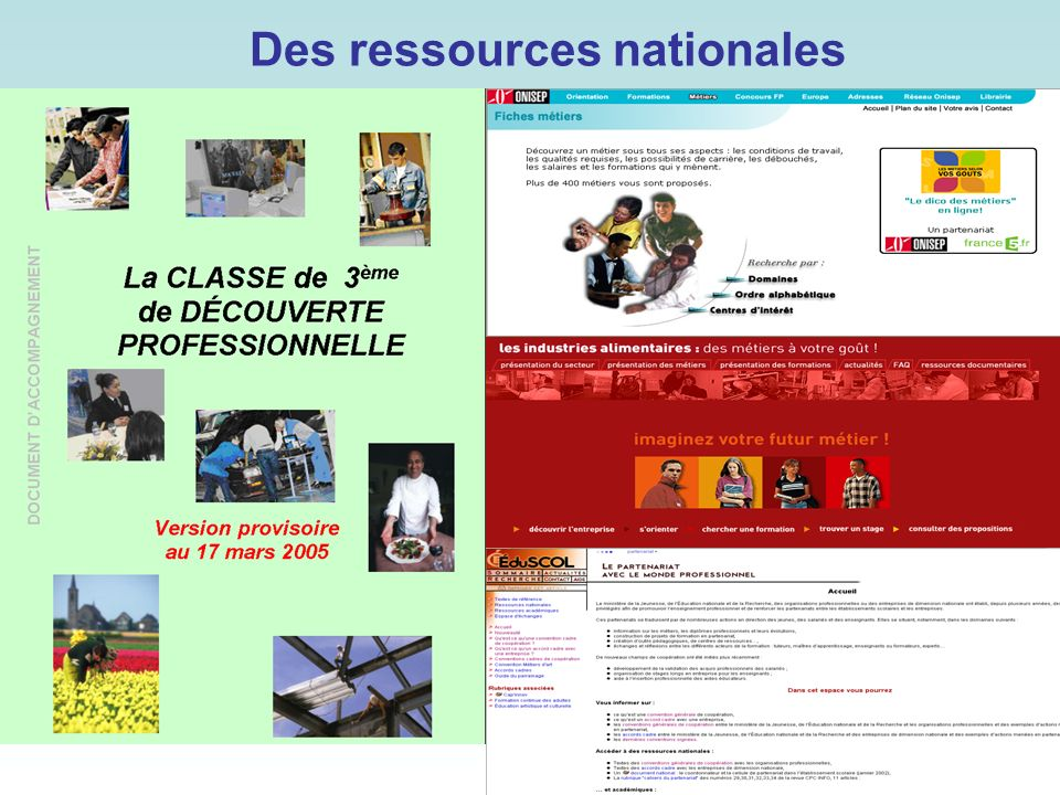 Des ressources nationales