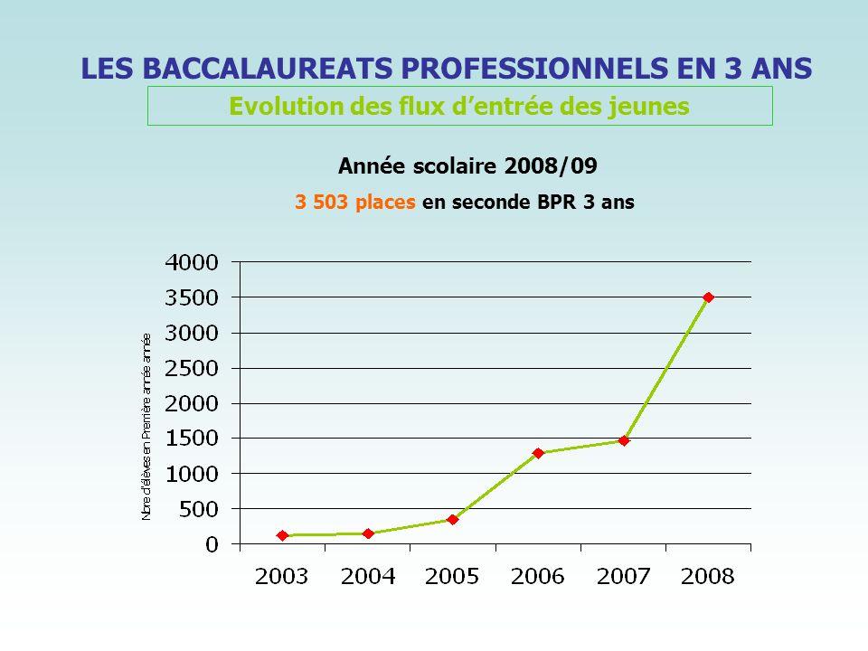 LES BACCALAUREATS PROFESSIONNELS EN 3 ANS