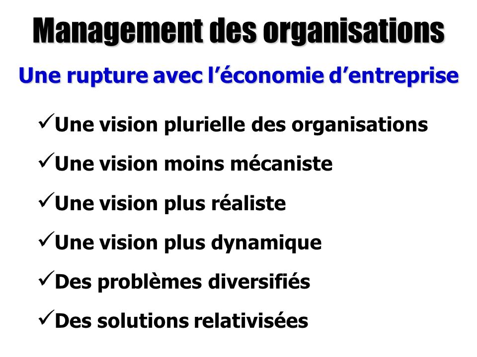 Management des organisations