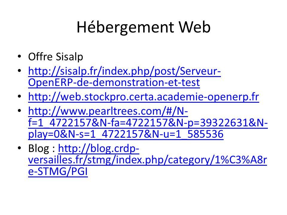 Hébergement Web Offre Sisalp