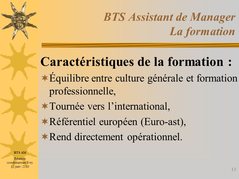 BTS Assistant de Manager La formation