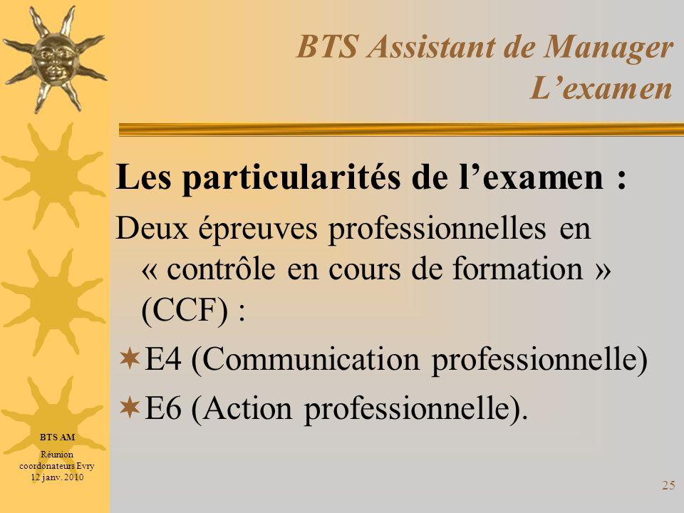 BTS Assistant de Manager L'examen
