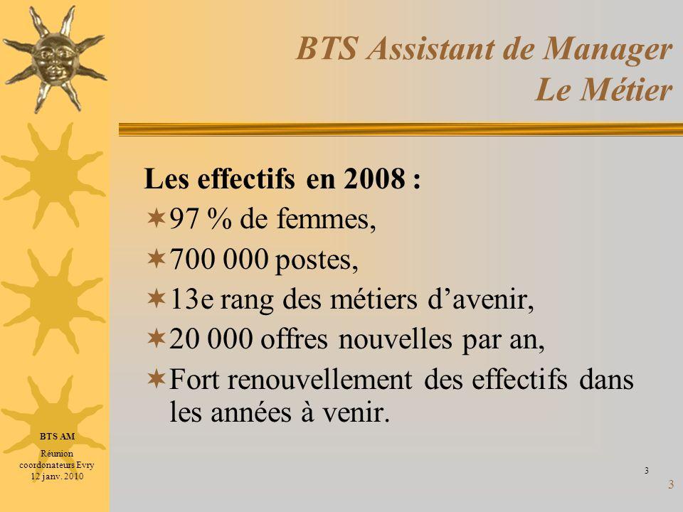 BTS Assistant de Manager Le Métier