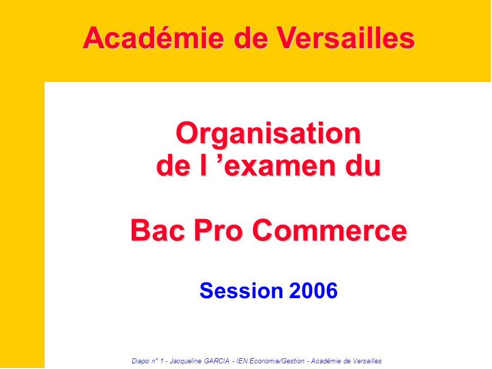 Organisation de l 'examen du Bac Pro Commerce