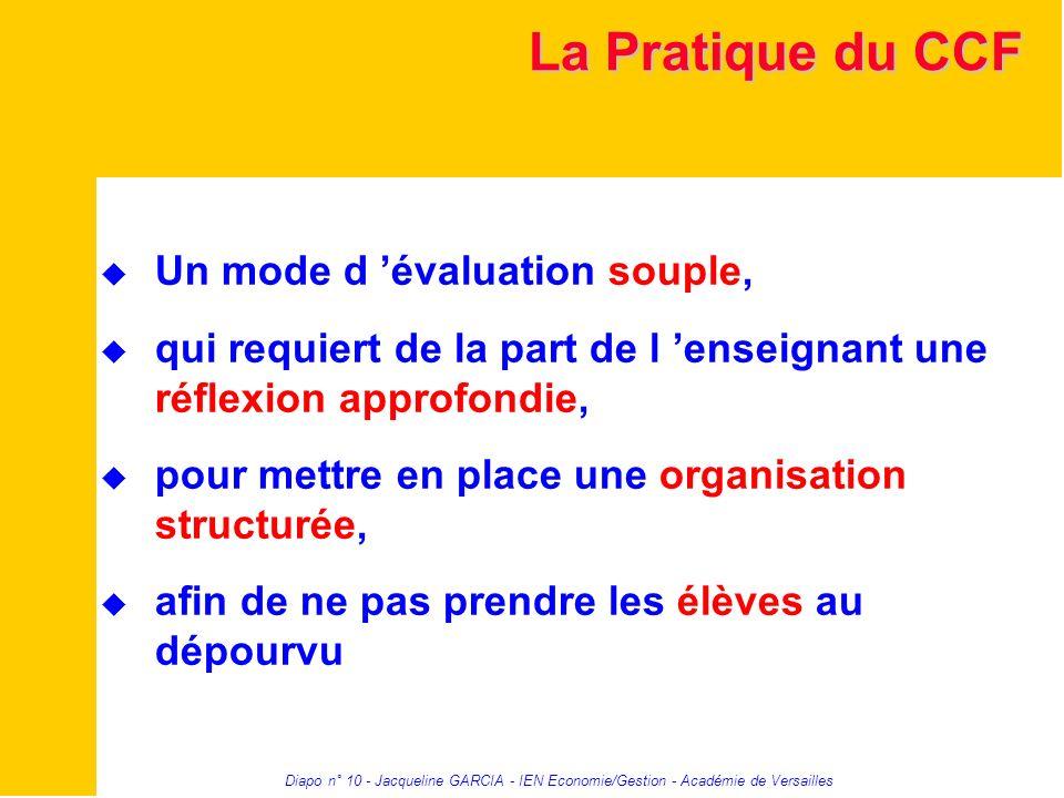 La Pratique du CCF Un mode d 'évaluation souple,