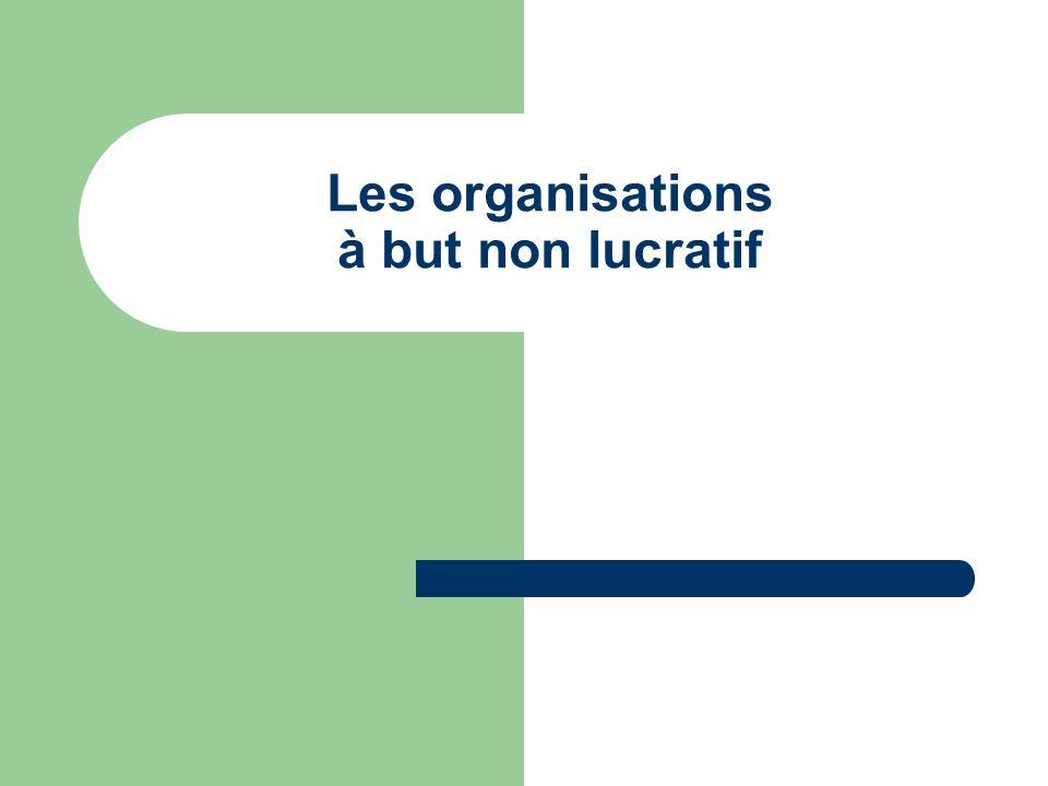 Les organisations à but non lucratif