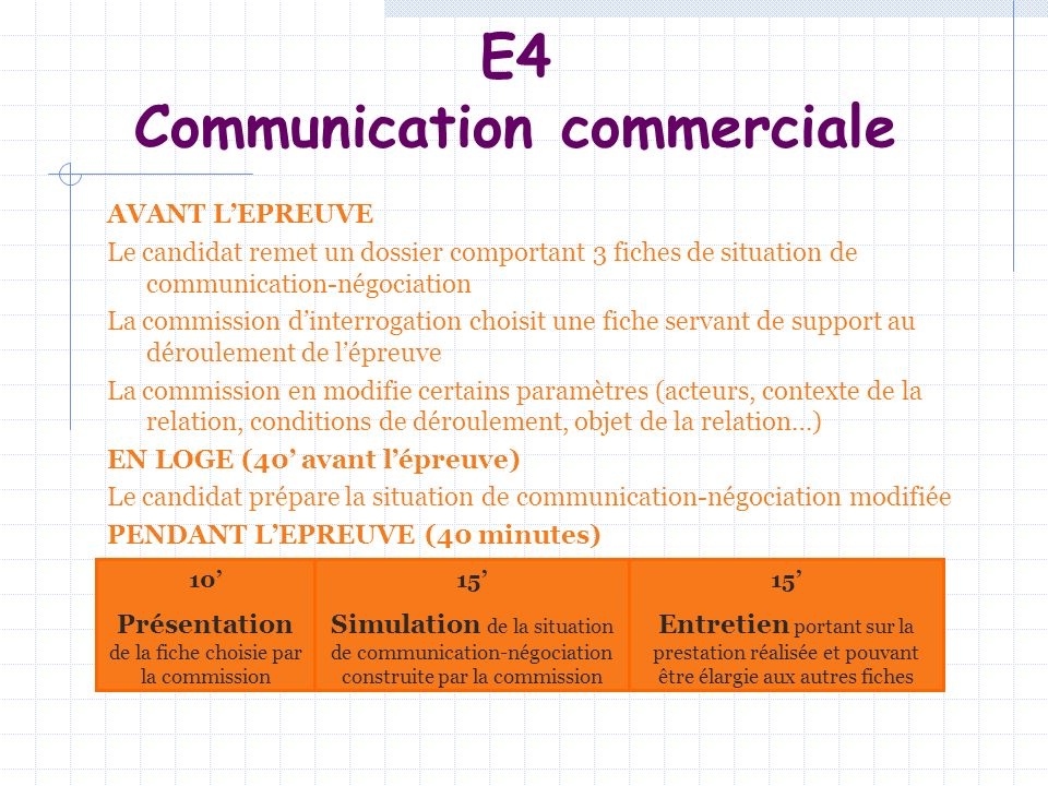 E4 Communication commerciale
