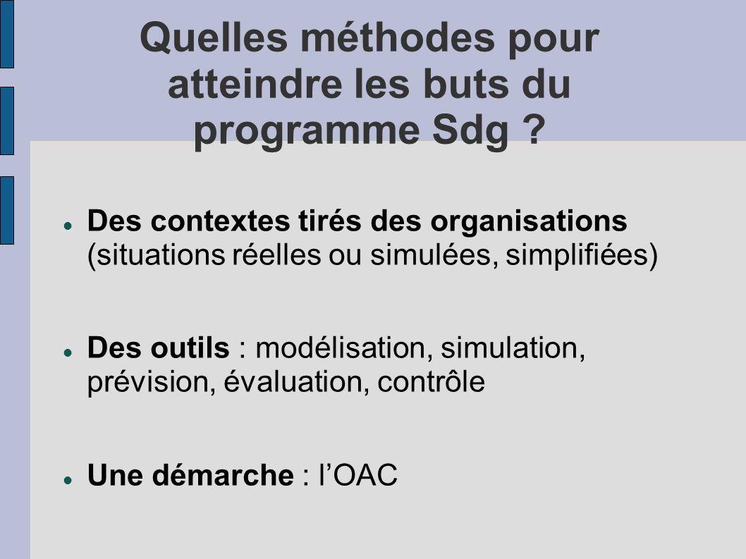 Quelles méthodes pour atteindre les buts du programme Sdg