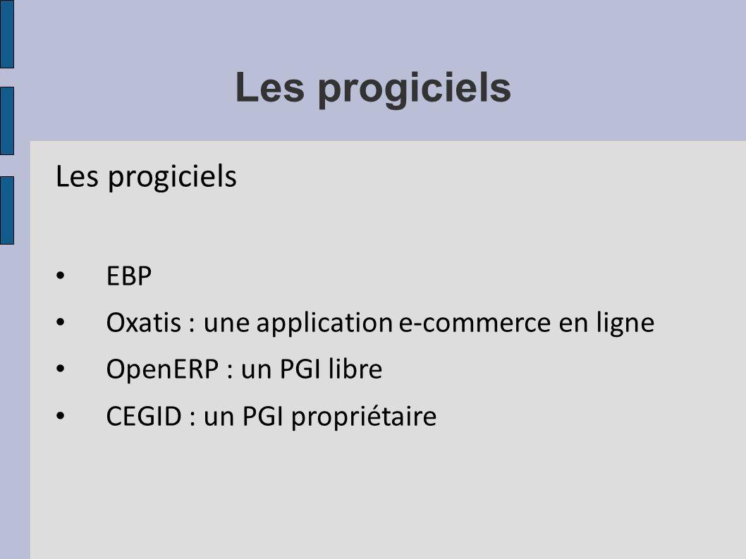 Les progiciels Les progiciels EBP