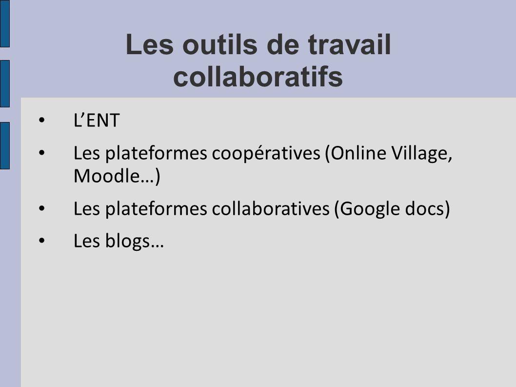 Les outils de travail collaboratifs