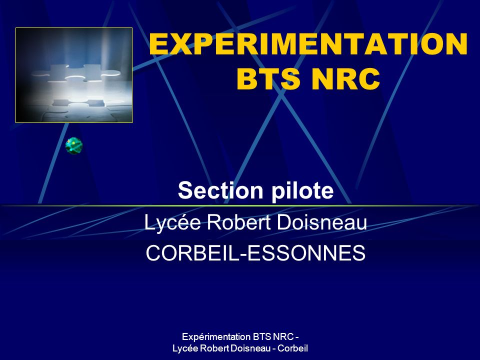 EXPERIMENTATION BTS NRC