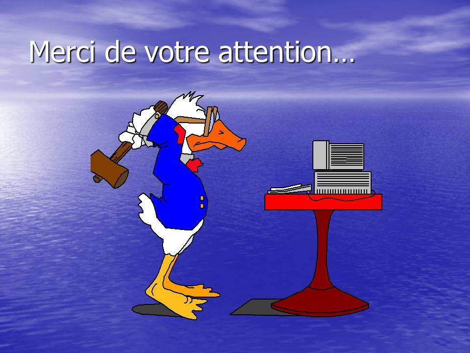 Merci de votre attention…