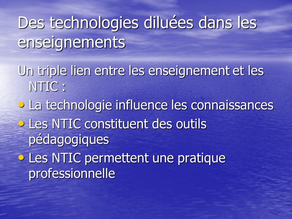 Des technologies diluées dans les enseignements