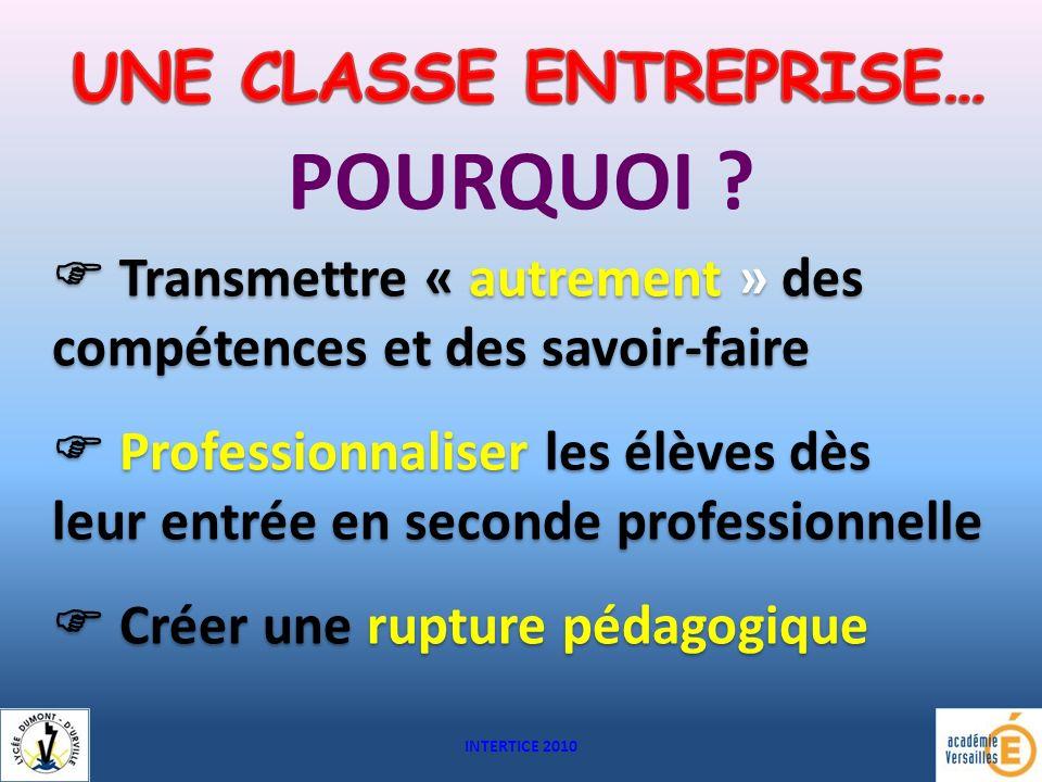 UNE CLASSE ENTREPRISE…