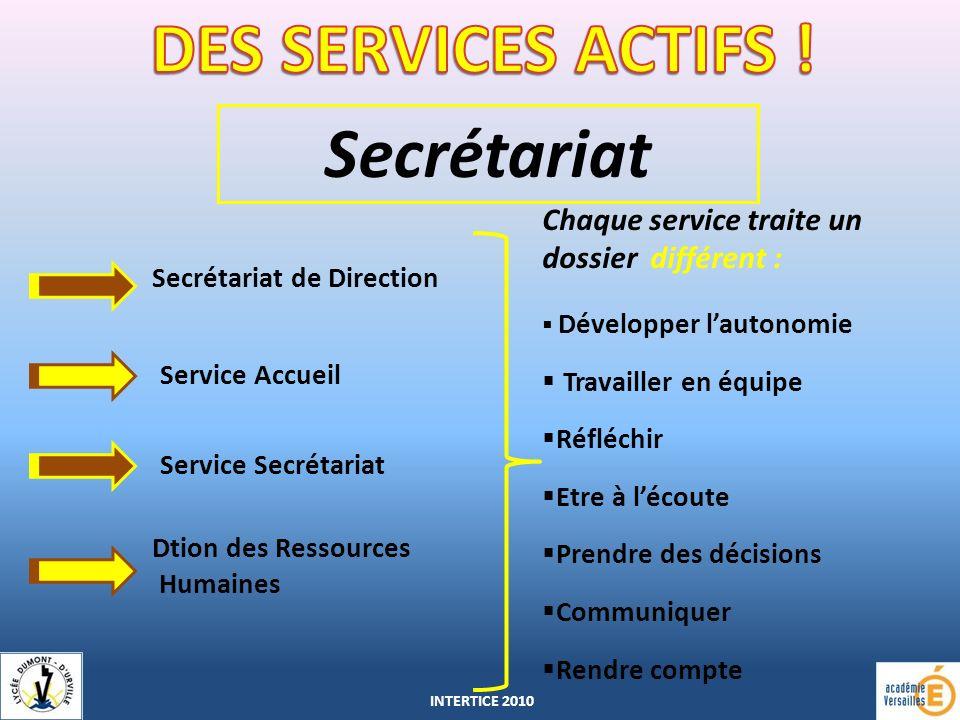 DES SERVICES ACTIFS ! Secrétariat
