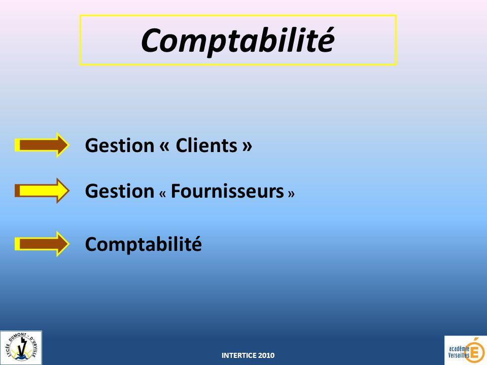 Comptabilité Gestion « Clients » Gestion « Fournisseurs » Comptabilité