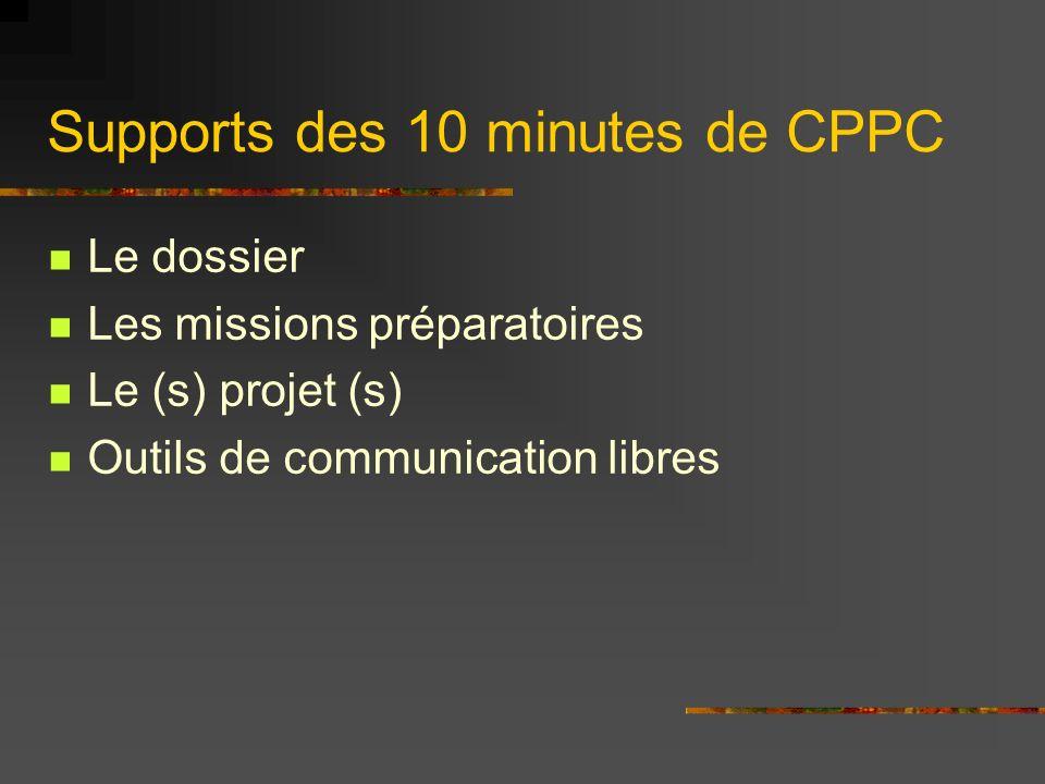 Supports des 10 minutes de CPPC